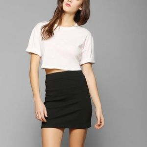 Silence + Noise Body Con Knit Mini Skirt